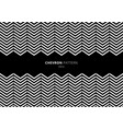 black and white chevron pattern with space for vector image vector image