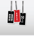 black friday tag set in color vector image vector image