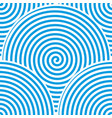 blue spiral background vector image vector image