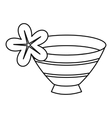 Bowl with water for spa icon outline style vector image vector image