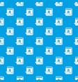 calendar pattern seamless blue vector image vector image