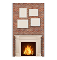 classic fireplace vector image vector image