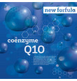 coenzyme q10 transparent bubbles on blue vector image