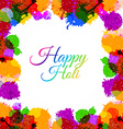 colorful grunge happy holi stain vector image vector image