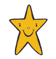 funny star character doodle icon hand vector image vector image