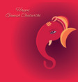 ganesh chaturthi festival poster design vector image vector image