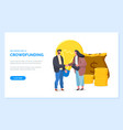 get started with crowdfunding website page vector image vector image