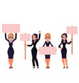 girls women businesswomen in business suits vector image vector image