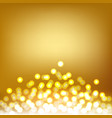 gold bokeh and lights abstract background vector image vector image