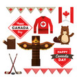 happy canada day vector image