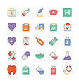 Health Colored Icons 1 vector image vector image