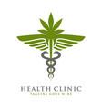 health symbol logo template vector image vector image