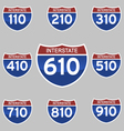 INTERSTATE SIGNS 110-910 vector image vector image