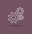 isolated linear icon of settings gears vector image vector image