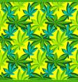 isometric marijuana leafs seamless pattern vector image vector image