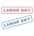 labor day textile stamps vector image vector image