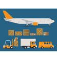 Logistics Transport Icon Set vector image vector image