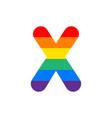 logo letter x rainbow vector image