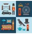 London Colored Compositions vector image vector image