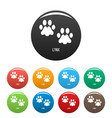 lynx step icons set color vector image vector image