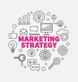 marketing strategy round in vector image vector image