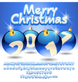 Merry Christmas 2017 beautiful greeting card vector image vector image