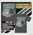 mock up clothing company t-shirt templatebulldog vector image