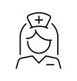 monochrome nurse female medical staff in uniform vector image