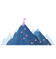 mountain progression path climbing progress route vector image