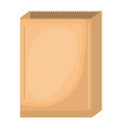 paper bag in colorful silhouette over white vector image vector image