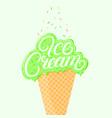 pistachio ice cream vector image vector image