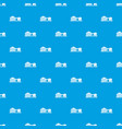 plant pattern seamless blue vector image vector image