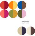 poster trendy color scheme by plain color rounds vector image