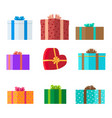 presents set holiday collection vector image vector image