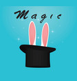 rabbit ears and cylinder vector image vector image