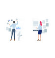 recruitment and headhunting hr process employment vector image