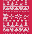 red fair isle christmas pattern vector image