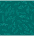 seamless stylized leaf background leaves vector image vector image