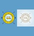 set camper car logo design template home on vector image vector image
