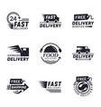 set delivery labels for online shopping vector image vector image
