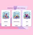 set mobile app page design screen set on vector image vector image