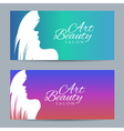 Set of banners with conceptual silhouette of a vector image vector image