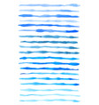 set of blue watercolor lines vector image vector image