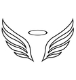 sketch of angel wings vector image