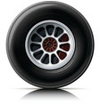 sports car wheel vector image vector image