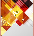 square elements on gray abstract background vector image