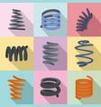 stripe icons set flat style vector image