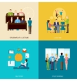 Students Concept Set vector image