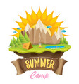 summer campinng concept vector image