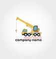 truck crane - company name vector image vector image